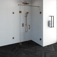 Douchecabine Compleet Just Creating Profielloos 3-Delig Dubbel Draaibaar 90x120 cm Koper
