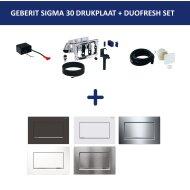 Bedieningsplaat Geberit Sigma 30 + DuoFresh Geurzuiveringssysteem Wit