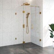 Douchecabine Compleet Just Creating Profielloos 3-Delig Dubbel Draaibaar 90x100 cm Goud