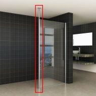 Verticale Stabilisatiestang met Plafond Bevestiging Wiesbaden Chroom voor 10 mm
