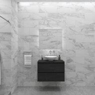Badkamermeubelset Gliss Zeus 90 cm Zwart Eiken Met Waskom