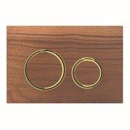 Bedieningsplaat Geberit Sigma 21 voor 2-toets Spoeling Messing Goud / Amerikaans noten