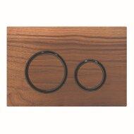 Bedieningsplaat Geberit Sigma 21 voor 2-toets Spoeling Zwart Chroom / Amerikaans noten