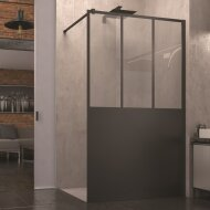 Inloopdouche SanSwiss Walk-In Easy Loft Atelier 90x200 cm Mat Zwart