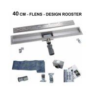 Douchegoot Boss & Wessing Fens met losse sifon RVS Standaard rooster 40cm