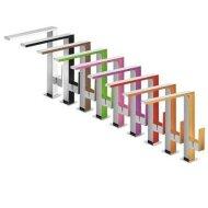 Keukenmengkraan Tres Top Colors 1-Hendel Uitloop Recht 28.5 cm Vierkant Rood Chroom