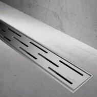 Easydrain Compact Taf Modulo Design Douchegoot 90 Cm.m/rooster Classic-waterslot 30mm. Rvs Geborsteld