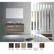 Badkamermeubelset Sanicare Q12 2 Laden Grey-Wood (spiegel optioneel)