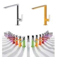 Keukenmengkraan Tres Top Colors 1-Hendel Uitloop 28.7 cm Vierkant Zwart Chroom