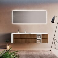 Badkamerspiegel Xenz Peschiera 180x70cm met Rondom Indirecte Verlichting en Spiegelverwarming