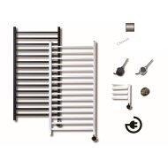 Elektrische Design Radiator Sanicare Plug En Play Qubic 126.4 x 60 cm Chroom Thermostaat Chroom 565 Watt