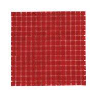 Mozaïek Amsterdam Basic 32.2x32.2 cm Glas Met Fijne Korrels Aardbei Rood (Prijs Per 1.04 m2)