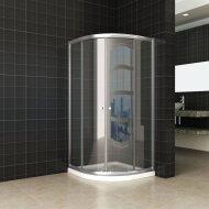 Douchecabine Wiesbaden Eco kwartrond 80x80x190cm 5mm Helder Glas