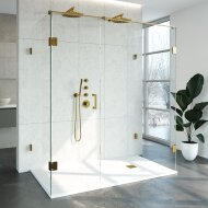 Douchecabine Compleet Just Creating Profielloos XL 100x180 cm Goud