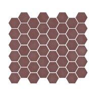 Mozaïek Valencia 27.8x32.5 cm Recycled Glas, Hexagon Mat Bordeaux (Prijs Per 1.00 m2)