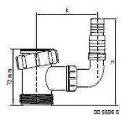 Mcalpine 5506 t-stuk + haakse slangtule tbv Wasmachine of Vaatwasser