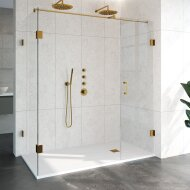Douchecabine Compleet Just Creating Profielloos 3-Delig 90x180 cm Goud