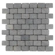 Mozaïek Parquet 3,2x4,8 Light Gray Tumble Marmer 30x30 cm (Prijs per 1m²)