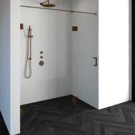 Nisdeur Compleet Just Creating Profielloos 2-Delig (Draaideur Bevestigd op Inloopwand) 170x200 cm 110/60 Koper