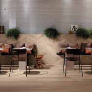 Wandtegel Fapnest Maple Chevron 7,5x45 cm Keramiek Beige (Doosinhoud: 0,88 m2)