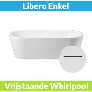 Vrijstaande Whirlpool Wiesbaden Libero 178x80x58.5 cm Luchtsysteem Mat Wit (afvoer optioneel)