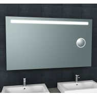 Spiegel Wiesbaden Tigris met LED Verlichting En Scheerspiegel 160x80cm