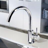 Keukenmengkraan Hotbath Buddy draaibare uitloop RVS | Tegeldepot.nl