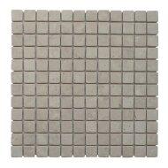Mozaïek Parquet 2,4x2,4 Cream Tumble Marmer 30x30 cm (Prijs per 1m²)