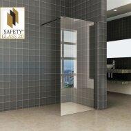 Wiesbaden Safety Glass 2.0 Inloopdouche met Zwart Muurprofiel 1000x2000 10mm NANO glas