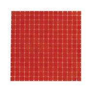 Mozaïek Amsterdam Basic 32.2x32.2 cm Glas Met Fijne Korrels Rood (Prijs Per 1.04 m2)