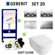 Geberit up100 set20 Subway 2.0 met Delta drukplaten