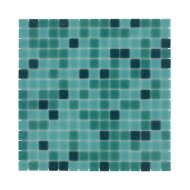 Mozaïek Amsterdam Basic 32.2x32.2 cm Glas Met Fijne Korrels Groen Mix (Prijs Per 1.04 m2)