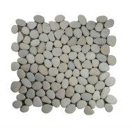 Mozaiek Mat Pebble Small Y Cream Sea Stone 30x30 cm (Prijs per 1m²)