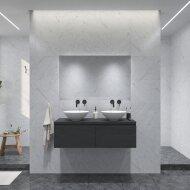 Badkamermeubelset Gliss Eros 120 cm Zwart Eiken Met 2 Lades Met Waskom
