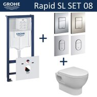 Grohe Rapid SL Toiletset set08 Wiesbaden Mercurius met Grohe Arena of Skate drukplaat