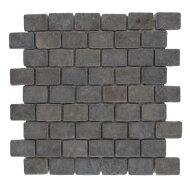 Mozaïek Parquet 3,2x4,8 Gray Tumble Marmer 30x30 cm (Prijs per 1m²)