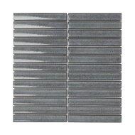 Mozaïek Sevilla Kit-Kat 29.6x29.9 cm Geglazuurd Porselein, Glanzend Grijs (Prijs Per 0.89 m2)