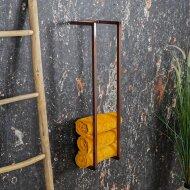 Handdoekenrek BWS Industrieel 95x25x20 cm Staal Glanzend Koper