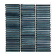 Mozaïek Sevilla Kit-Kat 28.2x30.8 cm Geglazuurd Porselein, Glanzend Azuur Blauw Spikkels (Prijs Per 0.87 m2)