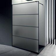 Inloopdouche Lacus Tremiti Wall 120x200 cm Mat Glas Stabilisatiestang Zwart