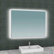 Badkamerspiegel Boss & Wessing Luc Rechthoek Inclusief LED Verlichting Backlight 100 cm