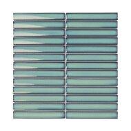 Mozaïek Sevilla Kit-Kat 29.6x29.9 cm Geglazuurd Porselein, Glanzend Zee Groen (Prijs Per 0.89 m2)