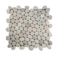 Mozaiek Mat Pebble Small Y Tan Gray Sea Stone 30x30 cm (Prijs per 1m²)