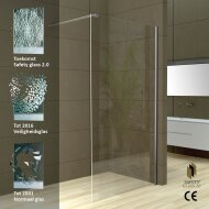 Wiesbaden Safety Glass 2.0 inloopdouche + muurprofiel 1000x2000 10mm NANO glas