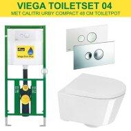 Viega EcoPlus Toiletset 04 Calitri Urby Compact 48 cm met Visign for Style 10 drukplaat