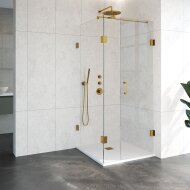 Douchecabine Compleet Just Creating Profielloos 3-Delig 90x90 cm Goud