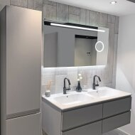 Badkamerspiegel Xenz Desenzano 70x70cm met Ledverlichting en Make-Up Spiegel