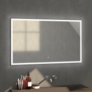 Badkamerspiegel met LED Verlichting Sanitop Edge Geborsteld Aluminium (in tien verschillende maten)