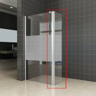 Zijwand Wiesbaden voor Inloopdouche met Links Scharnierend Profiel en Schaamband 35x200 cm 10 mm NANO Glas