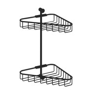 Hoekdraadkorf Hotbath Cobber Dubbel Wandmodel Mat Zwart